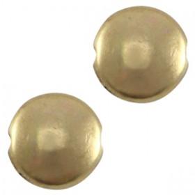 DQ metaal kraal plat 7.6mm Antiek brons (nikkelvrij)