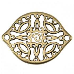 DQ metalen tussenstuk Antiek brons (nikkelvrij)