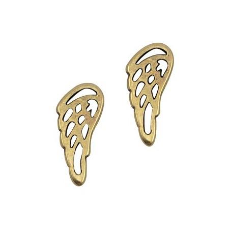 DQ metalen angel wing Antiek brons (nikkelvrij)