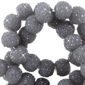 Sparkling beads 6mm Donker grijs