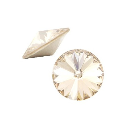 Swarovski Elements 1122- Rivoli puntsteen12 mm Light Silk