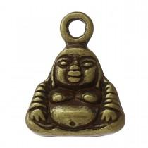 Bedeltje Buddha 12x10mm Antiek brons