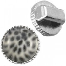 Cuoio vintage setting / slider Zilver 12mm