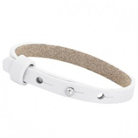 Cuoio armbanden leer 8 mm voor 12 mm cabochon Bright white