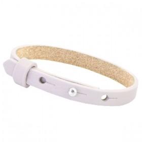 Cuoio armbanden leer 8 mm voor 12 mm cabochon Lavender purple