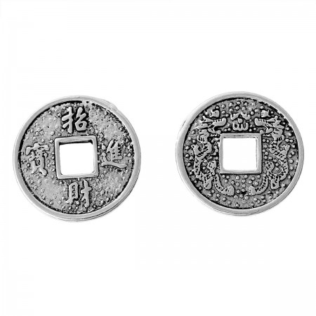 Bedeltje 'wealth and fortune' coin zilver