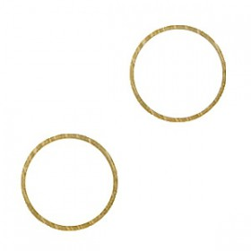 DQ Gesloten cirkel Antiek Brons 14mm (nikkelvrij)