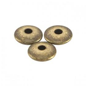 DQ metalen kralen disc 4x1.5mm Antiek brons (nikkelvrij)