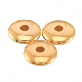DQ metalen kralen disc 5x1.5mm Rosé goud (nikkelvrij)