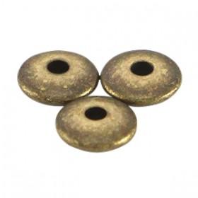 DQ metalen kralen disc 5x1.5mm Antiek brons (nikkelvrij)
