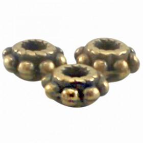 DQ metaal tube ring 5.5 x 2.8 mm Antiek Brons ( nikkelvrij )