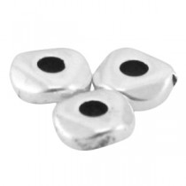 DQ metaal kraal 4.8x1.9mm Antiek zilver (nikkelvrij)