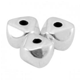 DQ metaal kraal 6.3x4.5mm Antiek zilver (nikkelvrij)