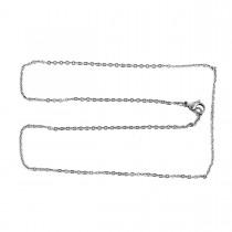 RVS ovale chain link Halsketting zilverkleur