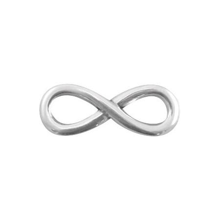 DQ metaal infinity bedel 30 mm Antiek zilver