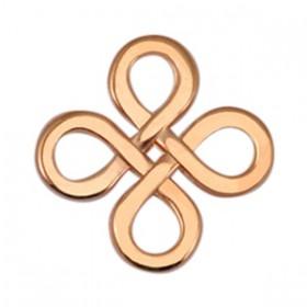 DQ metaal tussenstuk Infinity vierkant Rosé goud