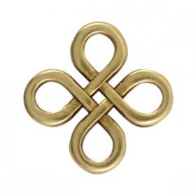 DQ metaal tussenstuk Infinity vierkant Antiek Brons
