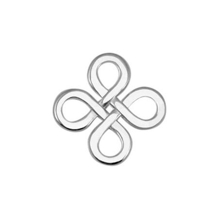 DQ metaal tussenstuk Infinity vierkant Antiek Zilver