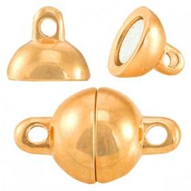DQ metalen magneetslot ball 8mm Rosé goud (nikkelvrij)