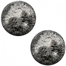 cabochon 20mm Polaris Perseo matt crushed ice Black silver