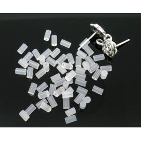 Oorhaakstoppertje siliconen buisje