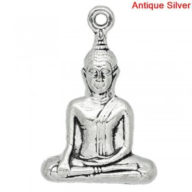 Hanger Buddha Antique Silver