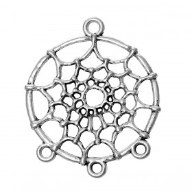 Connector Dream Catcher  antiek zilverkleur