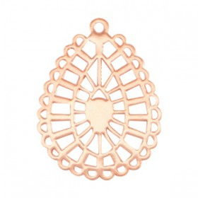 Bohemian hanger druppelvorm getand Rose gold