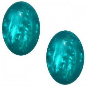 Polaris cabochon ovaal 10x13mm Shiny blue zircon