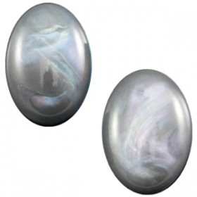 Polaris cabochon Belliride ovaal 10x13mm Grey