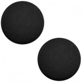 Polaris cabochon matt 7mm Nero zwart
