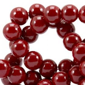 Glaskraal 8 mm opaque Ruby red