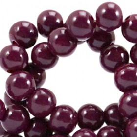 Glaskraal 6 mm opaque Fig purple