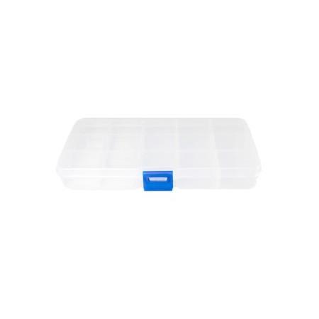 Sieraden opbergbox 15 vaks Transparant