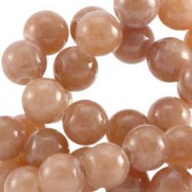 Half edelsteen kralen rond 6mm Agaat Rosewood brown