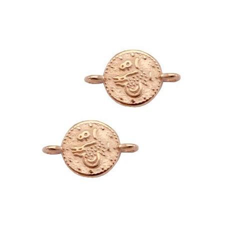 Tussenstuk / Bedel DQ muntjes Rosé goud (nikkelvrij)
