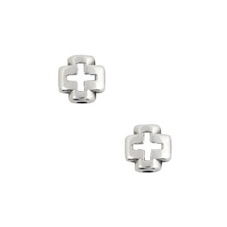DQ kruis Antiek zilver (nikkelvrij)