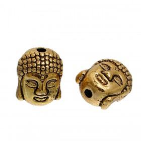 Metaal kraal Buddha hoofd goud