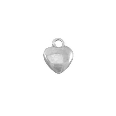 DQ Bedeltje hartje 6 mm Antiek Zilver  (nikkelvrij)