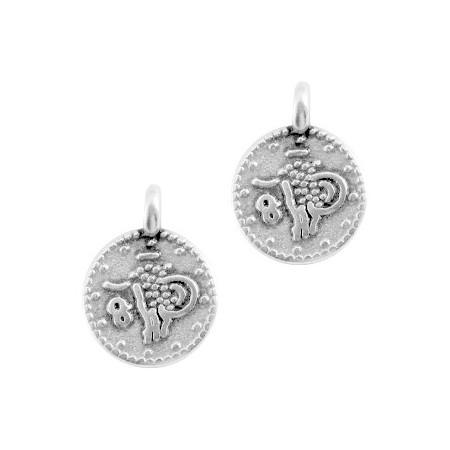 DQ Bedeltje muntje Antiek zilver (nikkelvrij)