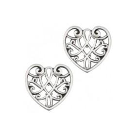 DQ Bedeltje hart Zilver  (nikkelvrij)