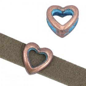 DQ metaal schuiver hart Koper blue patina