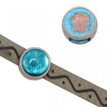 DQ metalen schuiver voor SS34 flatback Koper blue patina