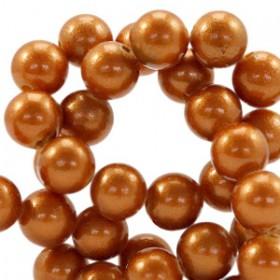 Glaskraal pearl Copper brown 6mm