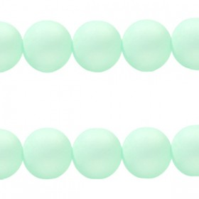 Polaris kralen matt rond 6 mm Pastel light turquoise