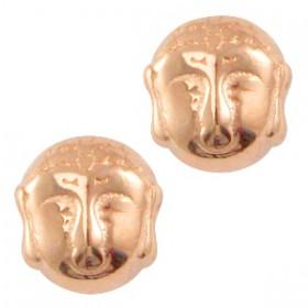 Kralen DQ metaal Buddha Rosé goud (nikkelvrij)