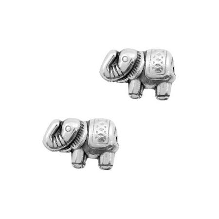 Kralen DQ metaal olifant Antiek zilver (nikkelvrij)