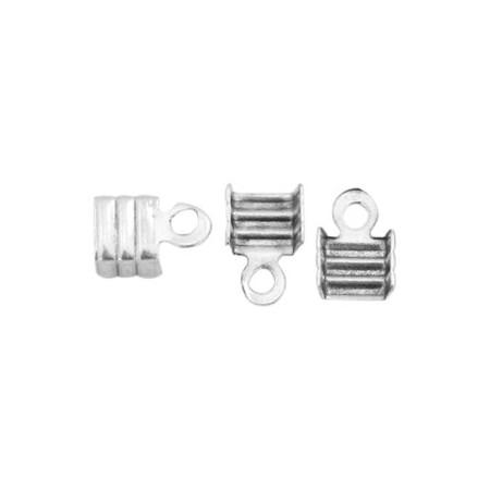 DQ metaal veterklem 3mm Antiek zilver (nikkelvrij)