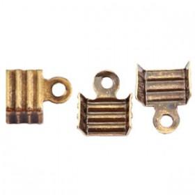 DQ metaal veterklem 3mm Antiek brons (nikkelvrij)