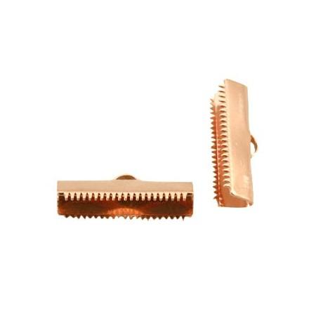 DQ metaal veterklem 20mm Rosé goud (nikkelvrij)